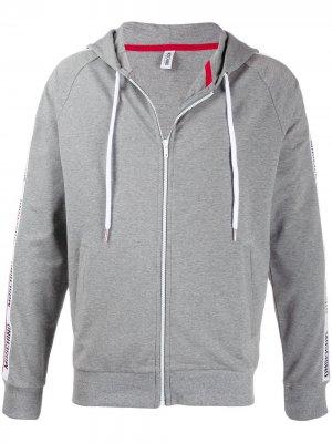 Худи с логотипом Moschino. Цвет: серый