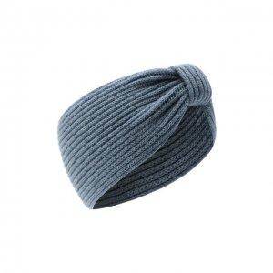 Кашемировая повязка на голову Inverni. Цвет: синий