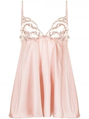 Комбинация Tallulah с вышивкой Gilda & Pearl. Цвет: розовый