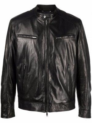 Куртка на молнии DONDUP. Цвет: черный