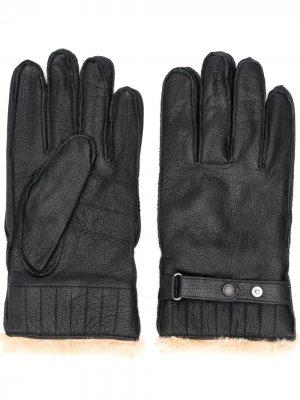 Перчатки с искусственным мехом Barbour. Цвет: черный