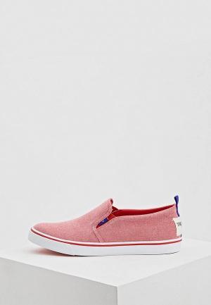 Слипоны Trussardi Jeans. Цвет: розовый