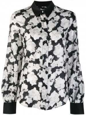 Юбка с цветочным принтом Karl Lagerfeld. Цвет: черный