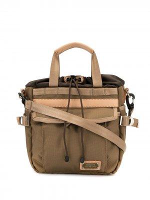 Парусиновая сумка на плечо As2ov. Цвет: коричневый