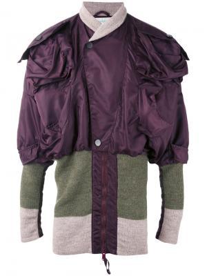 Куртка-бомбер Clint Eastwood Vivienne Westwood. Цвет: розовый и фиолетовый