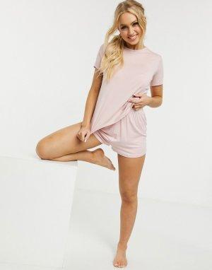 Розовые трикотажные шорты от пижамы -Розовый ASOS DESIGN