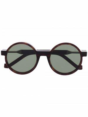 Солнцезащитные очки в круглой оправе VAVA Eyewear. Цвет: коричневый
