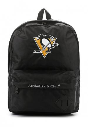 Рюкзак Atributika & Club™ NHL Pittsburgh Pinguins. Цвет: черный
