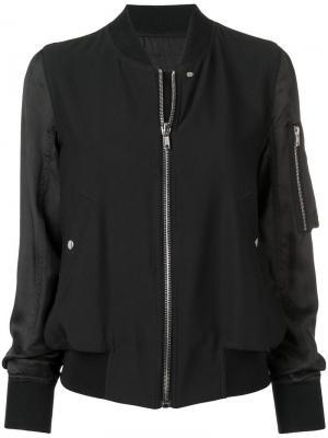 Куртка-бомбер на молнии Rick Owens