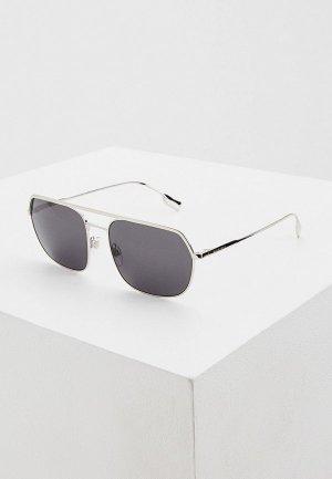 Очки солнцезащитные Burberry BE3117 100587. Цвет: серебряный