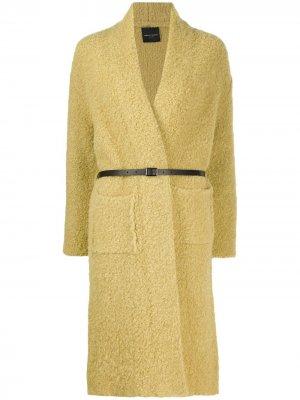 Кардиган-пальто без застежки Roberto Collina. Цвет: желтый