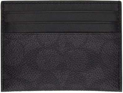 Grey Signature Card Holder Coach 1941. Цвет: charcoal/black