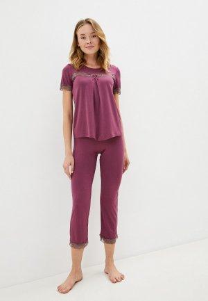 Пижама Оддис. Цвет: фиолетовый