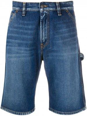 Джинсовые шорты с карманами MSGM. Цвет: синий