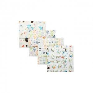 Комплект из 4-х пеленок Aden+Anais. Цвет: белый