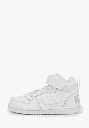 Кеды Nike BOYS COURT BOROUGH MID (PS) PRE-SCHOOL SHOE. Цвет: белый