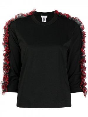 Ruffle knit top Comme Des Garçons Noir Kei Ninomiya. Цвет: черный