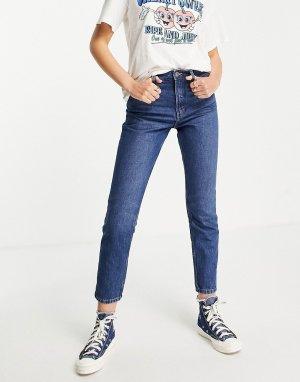 Голубые джинсы в винтажном стиле -Голубой Monki