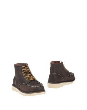 Полусапоги и высокие ботинки DUDE. Цвет: темно-коричневый