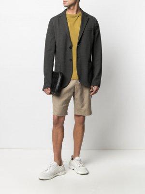 Однобортный пиджак Harris Wharf London. Цвет: серый