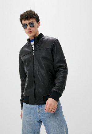 Куртка кожаная Al Franco IA202S9/1. Цвет: черный