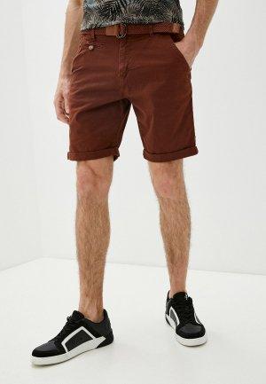 Шорты Indicode Jeans. Цвет: бордовый