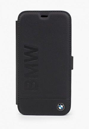 Чехол для iPhone BMW 12/12 Pro (6.1), Signature Genuine leather Logo imprint Black. Цвет: черный