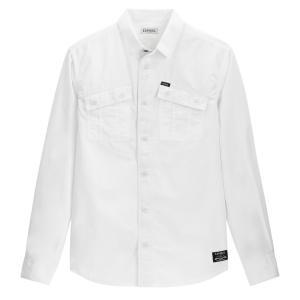 Рубашка прямого покроя с длинными рукавами KAPORAL. Цвет: белый