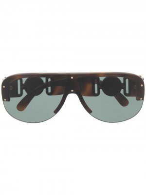 Солнцезащитные очки Medusa Versace Eyewear. Цвет: коричневый