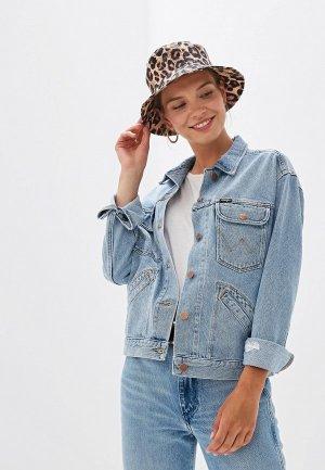 Куртка джинсовая Wrangler. Цвет: голубой