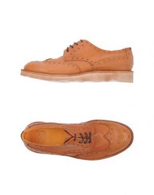 Обувь на шнурках ESSEUTESSE. Цвет: желто-коричневый