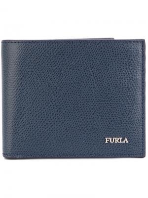Классический бумажник Furla. Цвет: синий