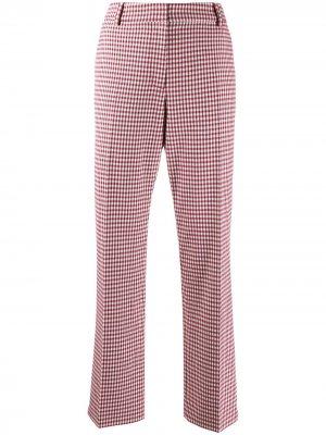 Саржевые брюки Galen прямого кроя в клетку гингем Derek Lam 10 Crosby. Цвет: розовый