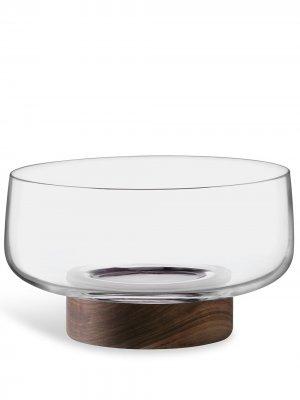 Сервировочная ваза City на деревянной подставке LSA International. Цвет: нейтральные цвета