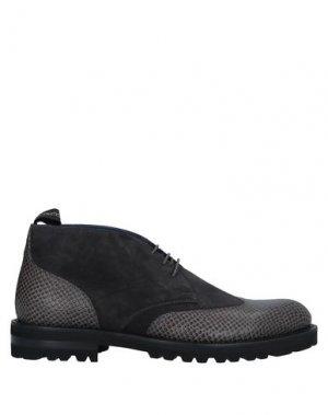 Полусапоги и высокие ботинки ALBERTO GUARDIANI. Цвет: стальной серый