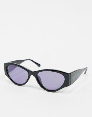 Солнцезащитные очки в черной оправе jeans-Черный Calvin Klein