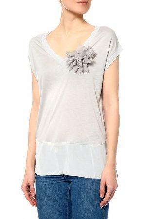 Блуза ICE&BERRY. Цвет: серый