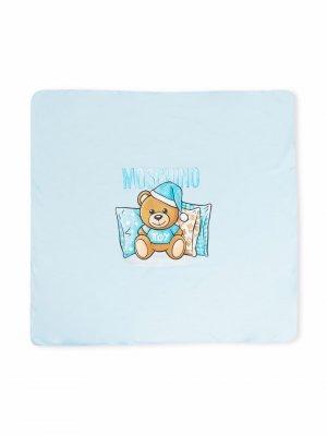 Одеяло Teddy Bear Moschino Kids. Цвет: синий