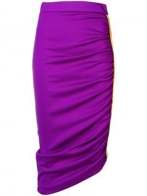 Асимметричная юбка-карандаш Pinko. Цвет: фиолетовый