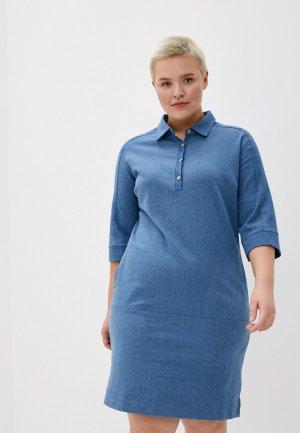 Платье джинсовое Olsi. Цвет: голубой
