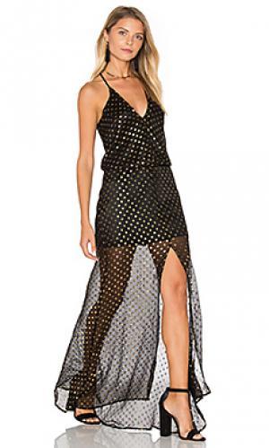 Макси платье mona Karina Grimaldi. Цвет: черный