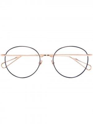 Очки Vendome в круглой оправе Ahlem. Цвет: золотистый