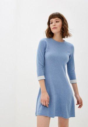 Платье Lacoste. Цвет: голубой