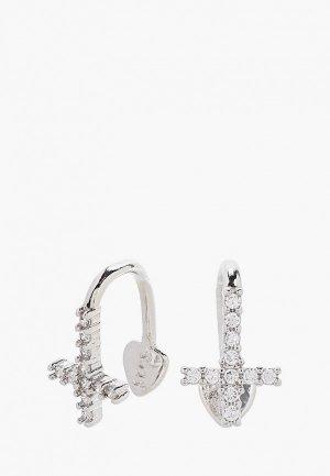Каффы Shine&Beauty с покрытием серебра 925 пробы. Цвет: серебряный