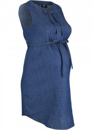 Платье для беременных bonprix. Цвет: синий