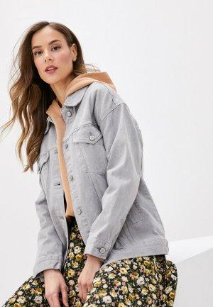 Куртка джинсовая Marks & Spencer PER UNA. Цвет: серый