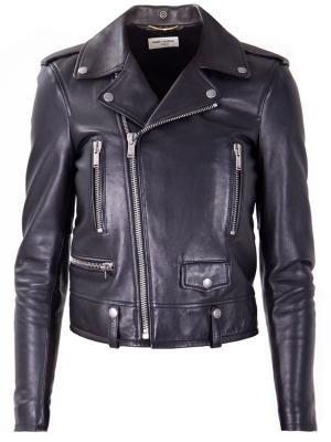 Кожаная куртка SAINT LAURENT. Цвет: черный