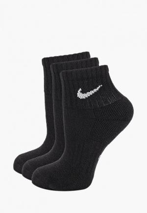 Комплект Nike KIDS PERFORMANCE CUSHIONED QUARTER TRAINING SOCKS (3 PAIR). Цвет: черный