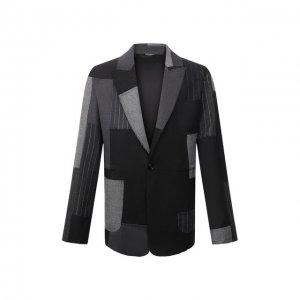 Пиджак Dolce & Gabbana. Цвет: серый