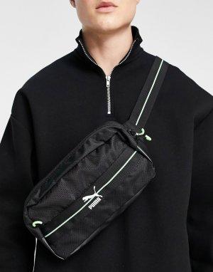 Черная сумка-кошелек на пояс с несколькими карманами PUMA Academy-Черный цвет